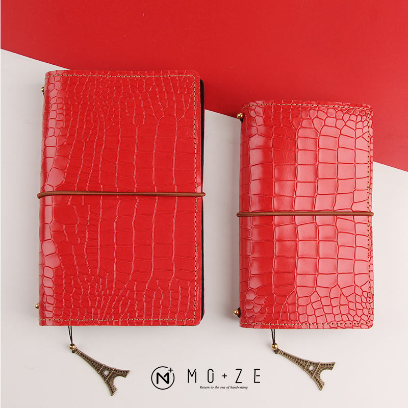 Yiwi Travel Notebook Diary Notepad Vintage Crocodile Red Cow Genuine Leather Note Book Replaceable Stationery Traveler JournalYiwi Travel Notebook Diary Notepad Vintage Crocodile Red Cow Genuine Leather Note Book Replaceable Stationery Traveler Journal