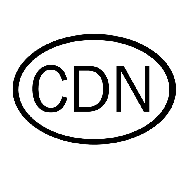 Cdn canada country code oval sticker autocollant bumper decal car for auto bike