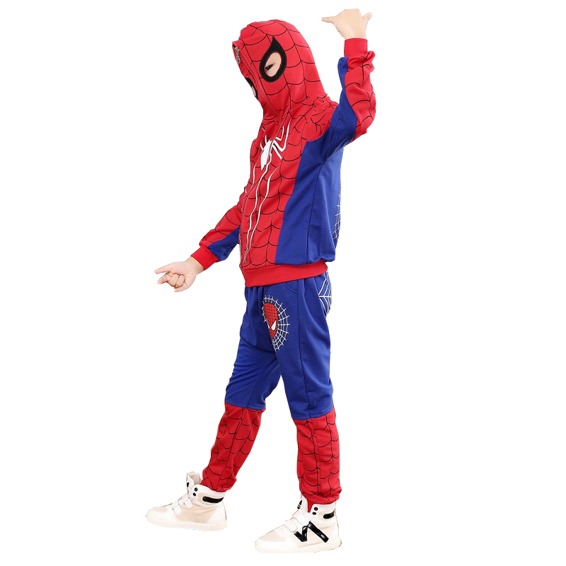 Spiderman Boys Clothing Sets Spring Full Sleeve Spider Man Costumes Suits Cotton Sport Suit For Boys Clothes Kids Clothes Set 2018 children clothing boys sets girls sport suit windbreake outfits suits costumes for kids clothes sets cartoon boys clothes