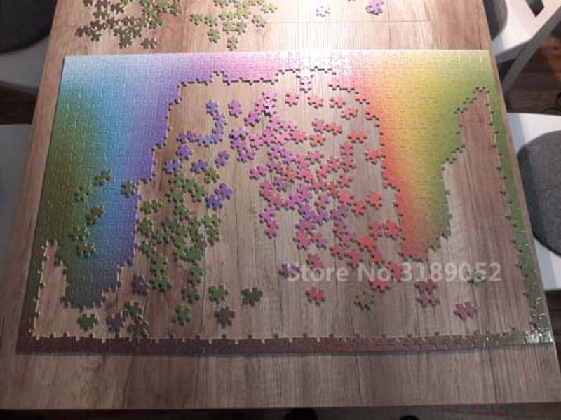 New 1000 pieces RGB Rainbow Jigsaw Puzzle Gradient color creative puzzle wooden Jigsaw puzzle  Adult Kids DIY Educational Toy 2