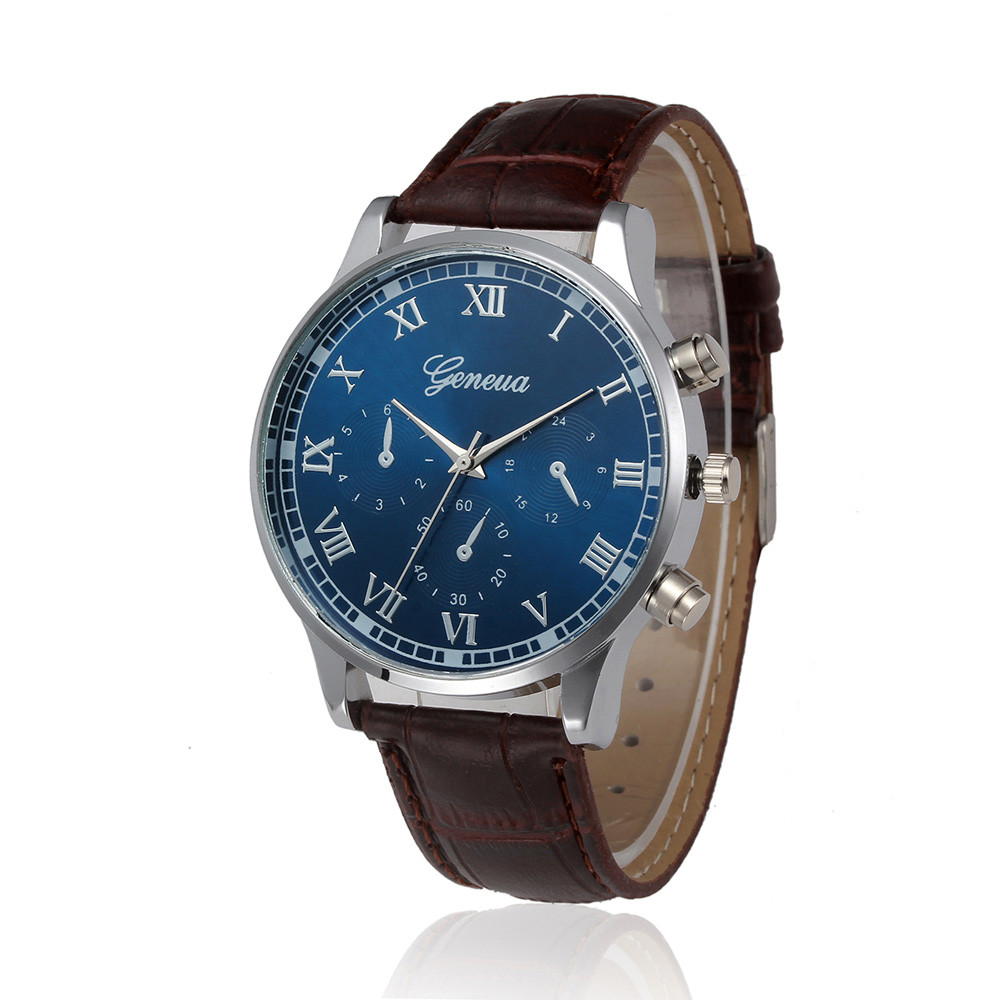 cheap watches faux leather band analog quartz wrist