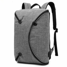 SAMI STUDIO 15.6 Inch Men Laptop Backpack Bag with USB Port Personalized Foldable Travel Waterproof Notebook