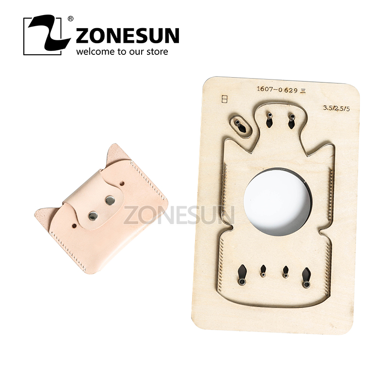 Zonesun Customized Pig Shape Leather Diy Wooden Template Knife Punching Tool Coin Purse Cutting Mold Die Animal Japanese Steel Low Price Electronic Components & Supplies