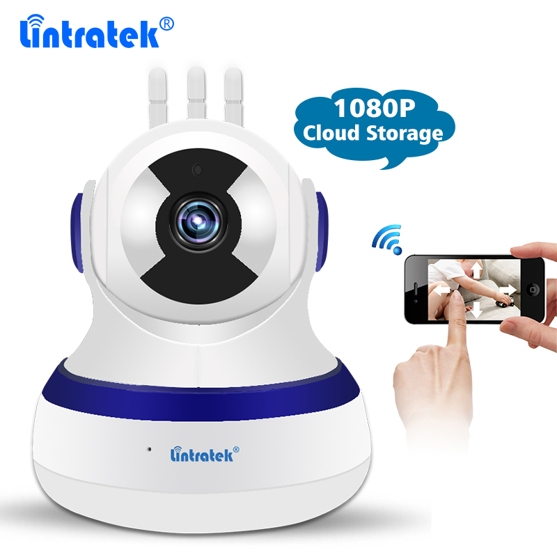 Lintratek Cloud Storage CCTV Home Security Wireless Wifi Camera Night Vision 2MP 1080P IP Camera Nanny Pet Elderly Baby Monitor