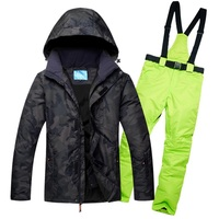2018 Men Ski Suits Jacket And Pant Windproof Waterproof Outdoor Snow Sport Male Skiing Snowboard Suit Super Warm Hiking Clothes
