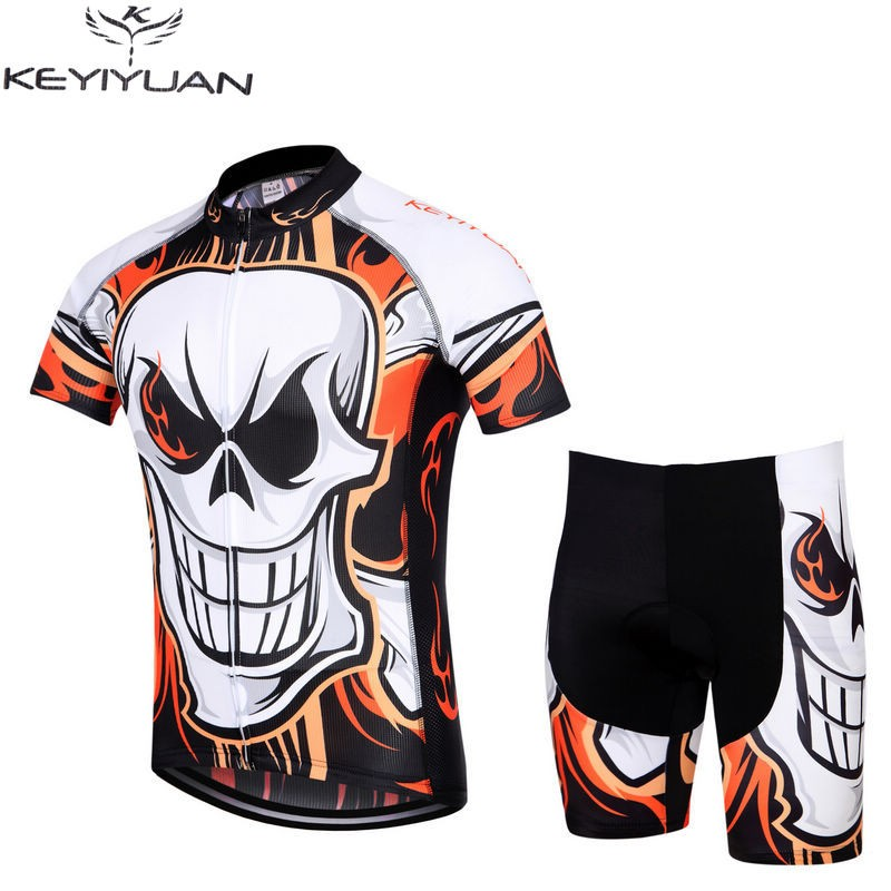 New Cycling Jerseys Ropa Ciclismo Comfortable Mens Wear Bike Clothing Bicycle Skull Bib Shorts S 5XL