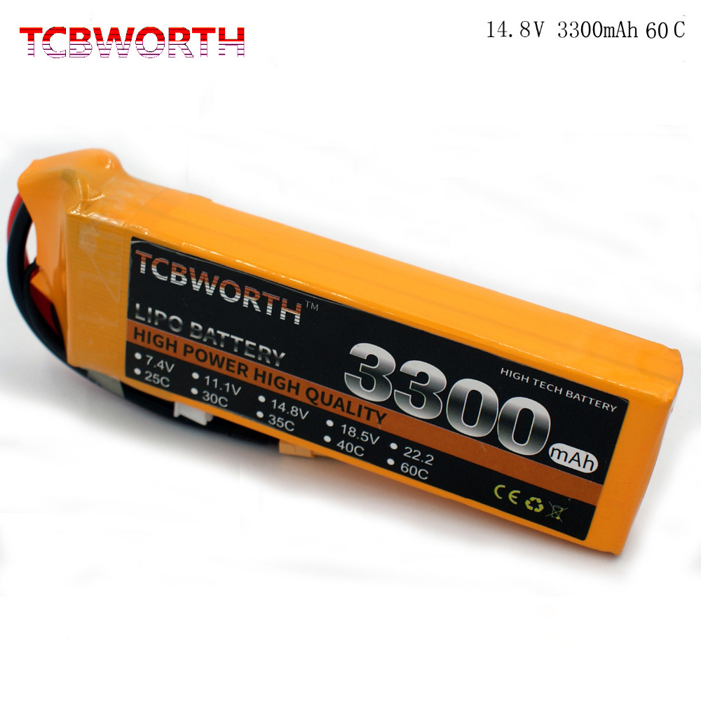 TCBWORTH 4S 14.8V 3300mAh 60C Max 120C RC Airplane LiPo battery For RC Helicopter Quadrotor Drone Car boat Truck Li-ion battery battery lipo 6s 22 2v 3300mah 60c for rc quadcopter helicopter drone boat car airplane model remote control toys lipo battery