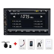 2 DIN Car radio/GPS/MP3/mp5/usb/sd/reproductor de Manos Libres Bluetooth Retrovisor después de sistema de pantalla Táctil hd Cámara Libre