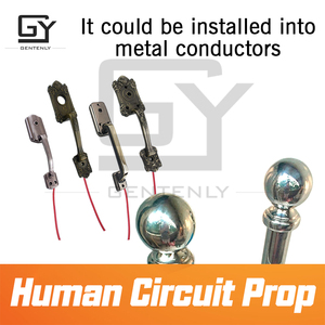 Image 4 - Escape room game Human circuit prop hold hands to open 12V magnet lock chamber prop for room escape game hand in hand to unlock