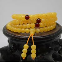 Natural Ethnic Chalcedony Agate Amber Beads Bracelet Hand Carved Jewelry Gifts Wholesale free shipping with Certificate