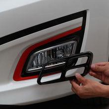Барбекю @ FUKA новый автомобиль укладка Внешний чехол подходит для 2014-2015 K5 Optima Kia Piano Black спереди туман свет лампы Vent ободок крышки отделкой