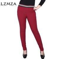 LZMZA Plus Size 6XL High Quality Women S Pants Fashion High Waist Elastic Pencil Pants Female