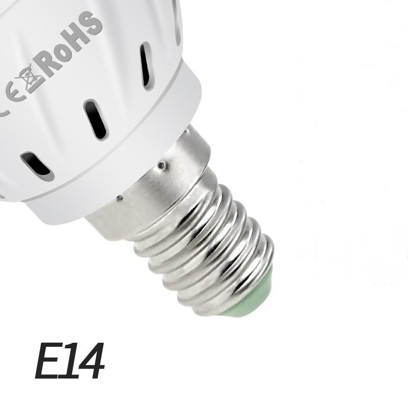 Фито светодиодный B22 гидропоники промышленная лампа E27 Светодиодная лампа для выращивания MR16 полный спектр 220 В UV светильник завод E14 цветок рассада фитолампа GU10 - Испускаемый цвет: E14