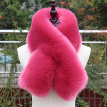 high quality faux fox fur scarf thick warm fake fur collar winter women muffler fur ring neck warmer coat decoaration lady scarf(China)