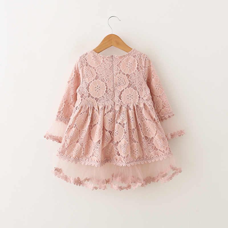 สาวชุดลูกไม้สำหรับฤดูใบไม้ผลิฤดูร้อน Stitch เสื้อผ้าชีฟอง 2018 ชุดเจ้าหญิงสวยออกแบบปาร์ตี้ชุด 3 ปีเสื้อผ้า