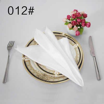 NP003C ราคาถูก CUSTOM Made งานแต่งงาน 40 ซม.* 40 ซม.สีชมพูแชมเปญสีดำสีเหลืองสีขาว Lilac สีฟ้าเงินสีม่วงผ้าซาตินผ้าเช็ดปาก