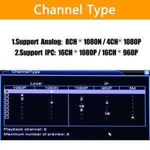 Image 3 - 5 1 で 8ch * 1080N AHD DVR 監視セキュリティ CCTV ビデオレコーダー DVR ハイブリッド DVR 720/ 960 H アナログ AHD CVI TVI IP カメラ