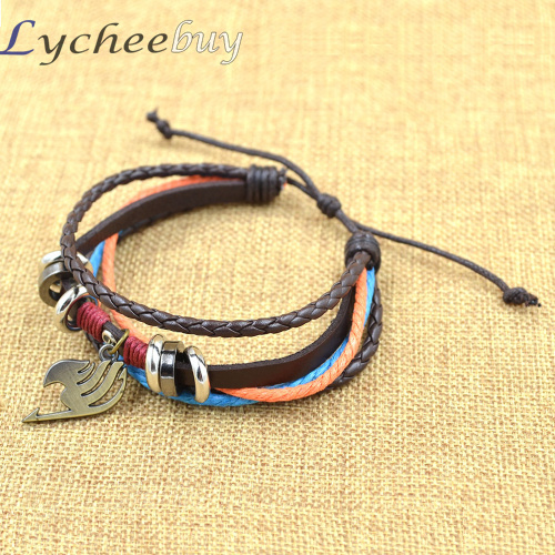 Naruto Fairy Tail Leather Bracelet Cosplay