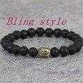 1pcNew Popular Fashion  Natural Lava 8mm Stone beads charm Bracelet Buddha head Bracelet Hamsa Hand Yoga Jewelry Women Men