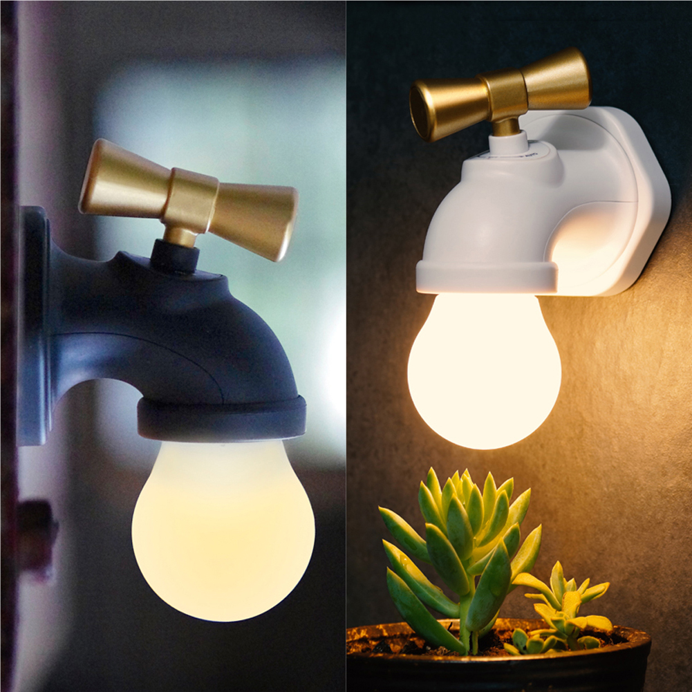 Rechargeable Emergency Lamp USB Charging Voice Control LED Night Light Tap Lamp Light Bulb Hallway Pathway Lamp