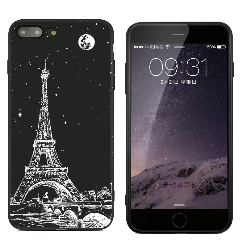 W nowym stylu seria nocna proste etui na telefon dla iPhone 6 6s 6 - Części i akcesoria do telefonów komórkowych i smartfonów - Zdjęcie 3