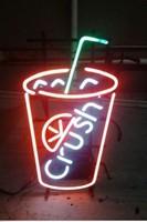 Custom Koud Drankje Verpletteren Glas Neon Light Teken Beer Bar