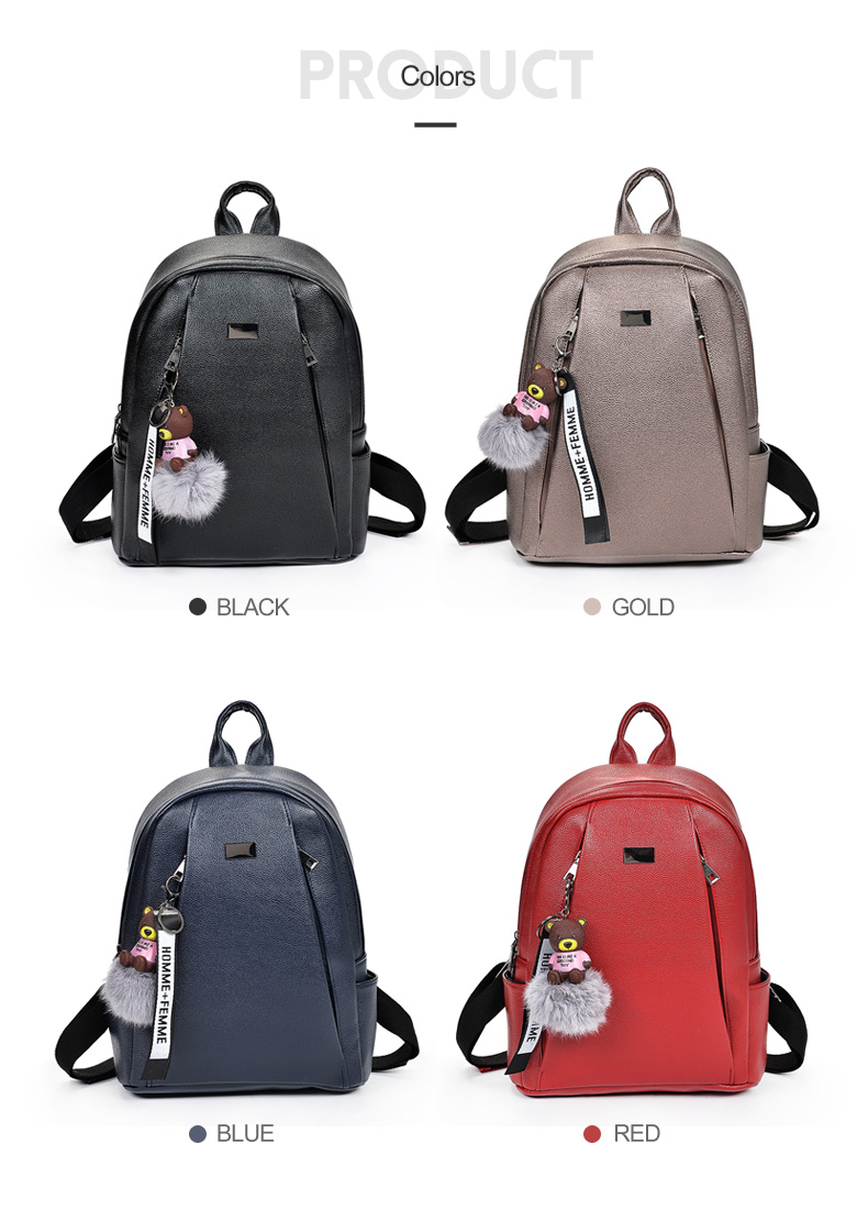 HTB1IHqRa.vrK1RjSspcq6zzSXXaM Fashion Gold Leather Backpack Women Black Vintage Large Bag For Female Teenage Girls School Bag Solid Backpacks mochila XA56H