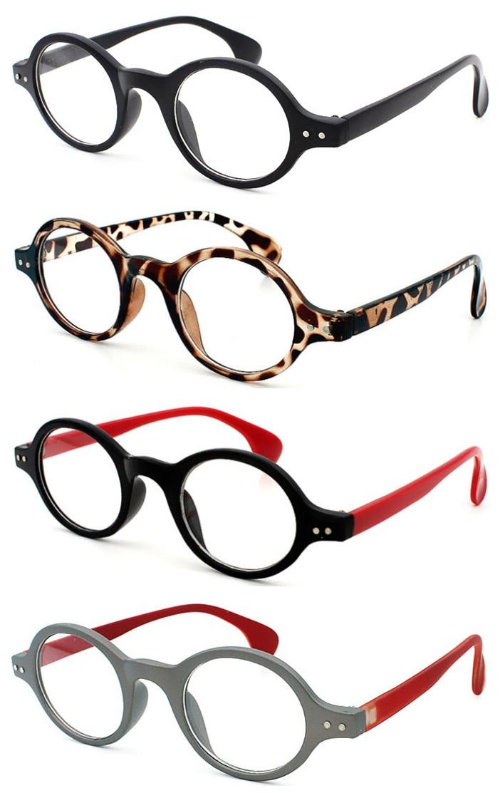 Vintage Retro 42.70mm Oval Round Design Eyeglass Frame Glasses 8 Colors Optical 2132