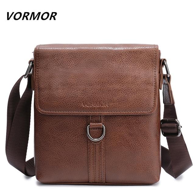 Vormor Vintage Leather Messenger Bag For Man Brand Business Men S Shoulder Bags Front Pocket