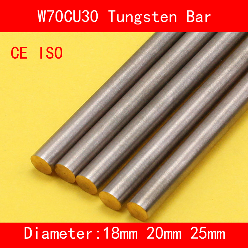 Diameter 18mm 20mm 25mm Length 100mm Tungsten Copper Alloy Bar Rod W70Cu30 W70 Bar Spot Welding Electrode DIY CE ISO Certificate