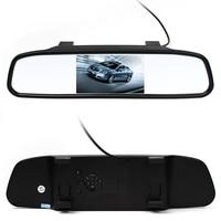 Hot 4 3 Inch Car Lcd Rear Rear View Mirror Monitor Monitor Camera CCD Video Auto
