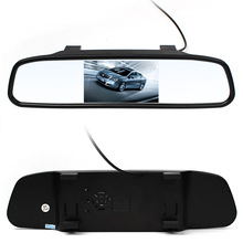 Hot 4.3 inch Car Lcd Rear Rear view Mirror Monitor monitor Camera CCD Video Auto Parking Assistance LED Night Vision Reversing