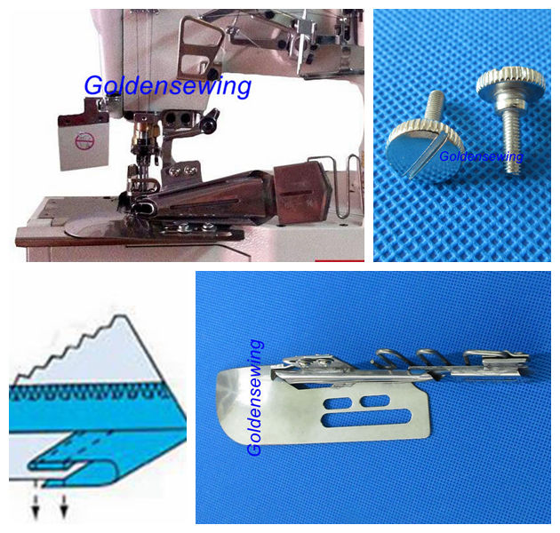 1//4 Household Sewing Machine Doublefold Type B Binder Foot Accessories Part for KP-104 Janome Coverpro Sew Machine Accessory