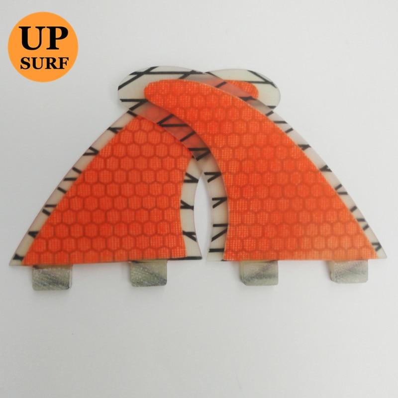 FCS Surfboard Ploutve Orange G5 Honeycomb Carbon Fiber Fin Surf FCS - Vodní sporty