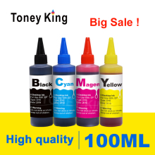 Toney King 4 Color Refill Dye Ink Kit For Canon Pixma MG3155 MG3200 MG3255 MG3500 MG3550 MG4100 Printer Cartridges Bottle ink