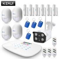 KERUI G19 Смарт Беспроводной GMS охранной сигнализации Системы SMS низкая Мощность напоминание домашняя охранная сигнализация с 1080 P IP Камера