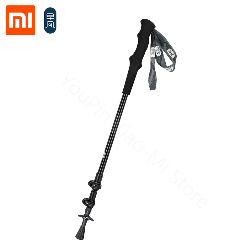 Xiaomi Light Walking Stick Carbon fiber metal T handle Telescopic Trekking Poles Outdoor Hiking Poles Walking