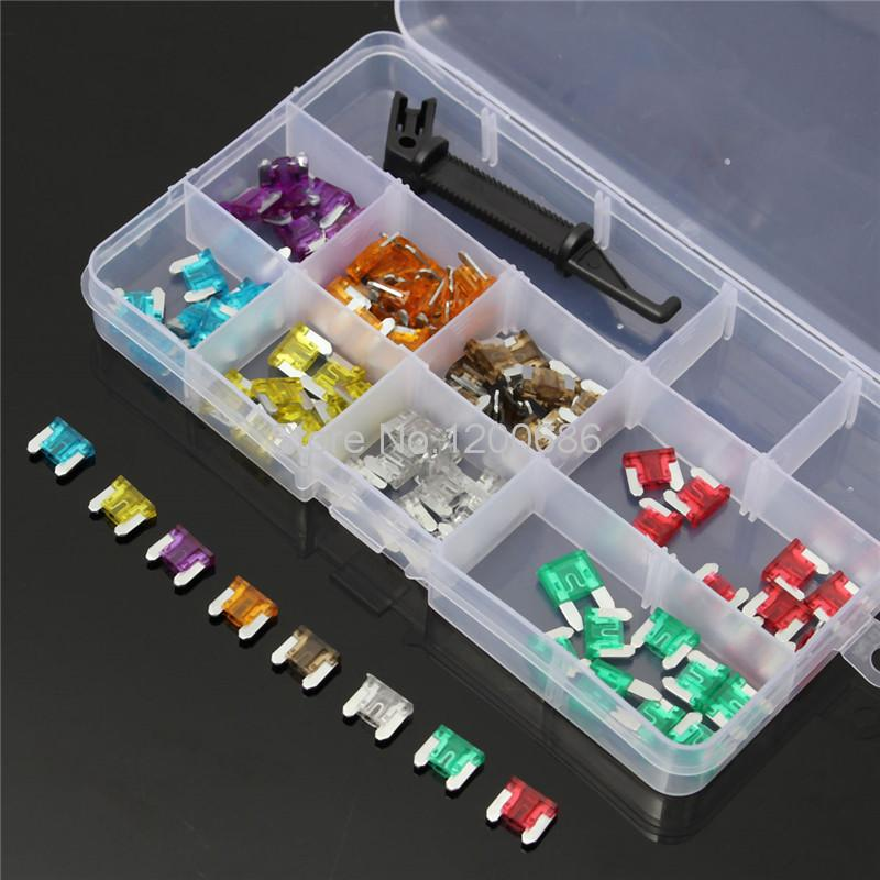 100pcs 3/5/7.5/10/15/20/25/30A AMP Low Profile Micro Blade Mini Fuse Assortment Set100pcs 3/5/7.5/10/15/20/25/30A AMP Low Profile Micro Blade Mini Fuse Assortment Set