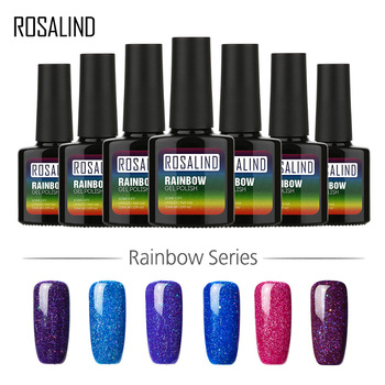 ROSALIND Gel 1 S P + bouteille noire 10 ML arc-en-ciel miroitant R01-29 peinture à la main UV vernis à ongles Gel LED Art des ongles Semi Permanent
