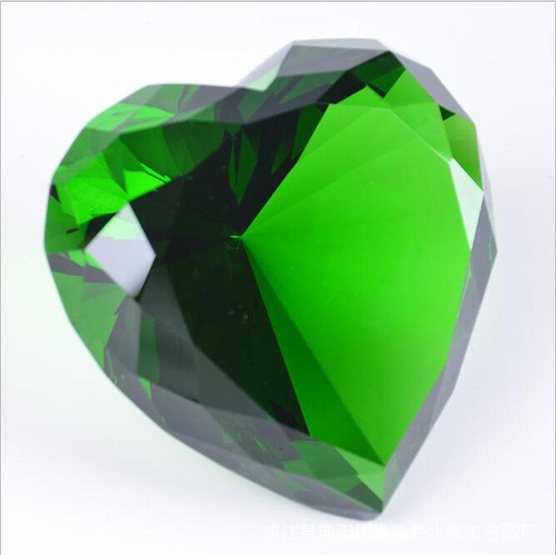 90mm formë zemre shumëngjyrëshe Diamanti i kristalit Diamanti i - Dekor në shtëpi - Foto 3