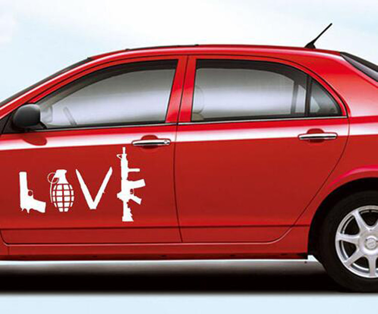 CM LOVE Field Shooting Military Supplies Car Stickers Decals - Graphic design stickers for cars