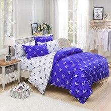 Постельное белье на год, Комплект постельного белья, хлопок, king size, модная синяя корона, пододеяльник+ постельное белье, домашний костюм-edredon nordico