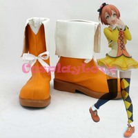 Newest Custom Made Japanese Anime Lovelive SUNNY DAY SONG Hoshizora Rin Cosplay Shoes Boots For Halloween