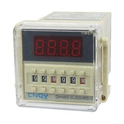 DH48S-S2Z LCD Display Time Timer Delay Relay 8-Pin DPDT 0.1S-99H AC 110V