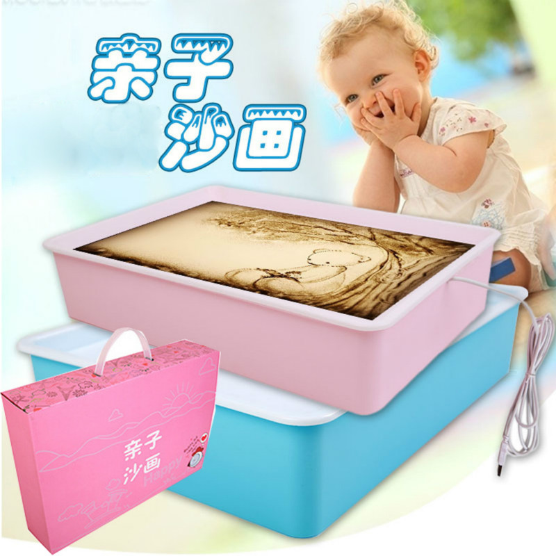 Parent Child Children Toy Sand Painting Stage School Training, Wisdom, Creative Gifts, Sand Painting Table Wholesale