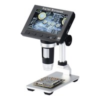 1000X DM3 Digital USB 8 LED 5MP Electronic Microscope 4.3 HD Display Magnifier with Light 1920X1080p