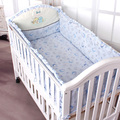 Free shipping Heavly l blue baby bedding six pieces set baby bedding bed around pad is mattresses  Sizes Available