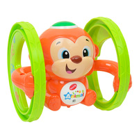 Clockwork Tin Toy Monkey Dog Bear Wheel Lighting Music Battery Clockwork Robot Little Toy Store Wind