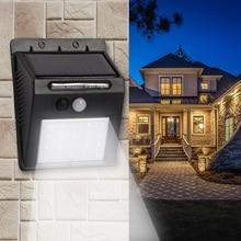 Rechargeable Solar Led Light Lamp Bulb Outdoor Waterproof PIR Motion Sensor Night Wall Light Lamps 20 leds for Home Garden Path недорого