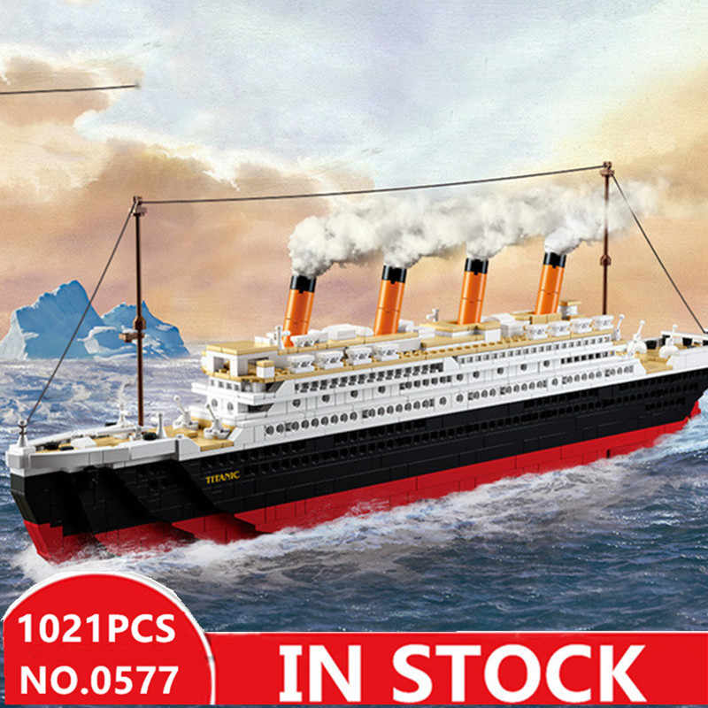 bd1f03d5 Sluban 0577 city titanic RMS Boat Ship sets model building kits ...